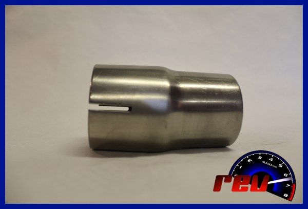 Stainless steel exhaust reducer connector adapter made